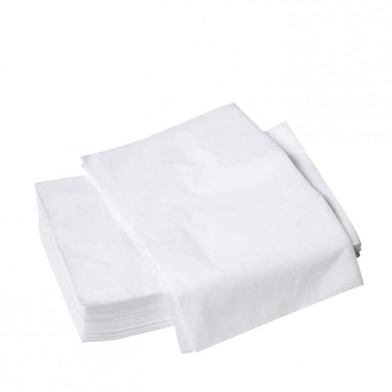 Σεντόνια μίας χρήσης για κρεβάτι μασάζ χωρίς λαστικό, 80x180cm - 10 τεμ.