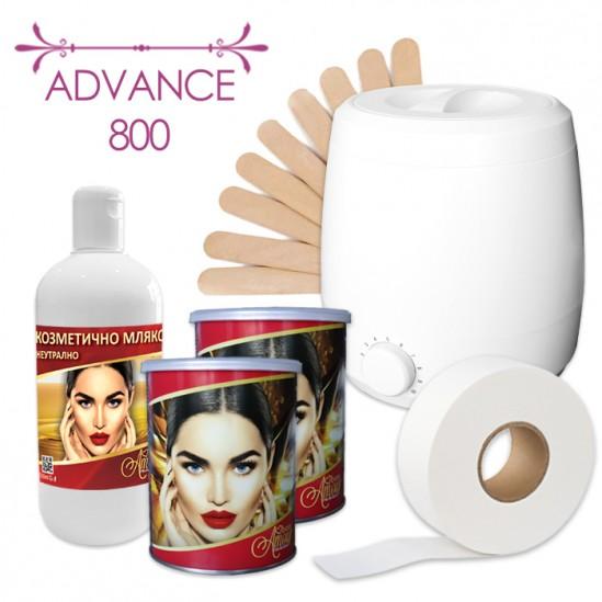 Πακέτο αποτρίχωσης με κερί αποτρίχωσης σε κουτί - Advance 800
