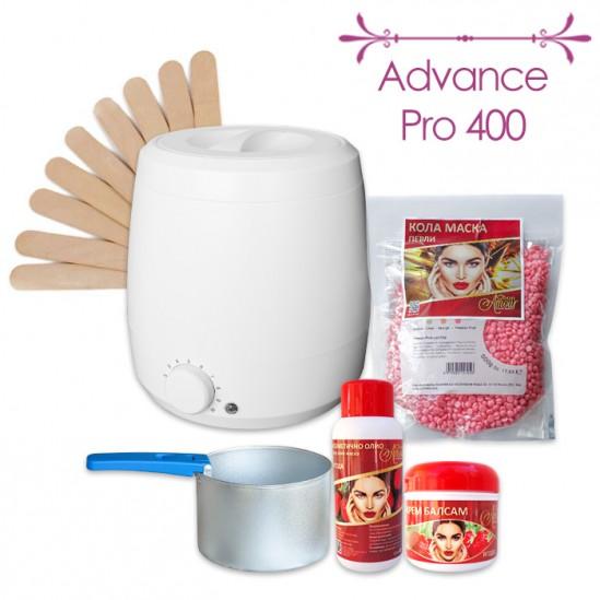 Πακέτο προσφοράς για αποτρίχωση με κερί μάσκα μαργαριταριών Advance Pro 400