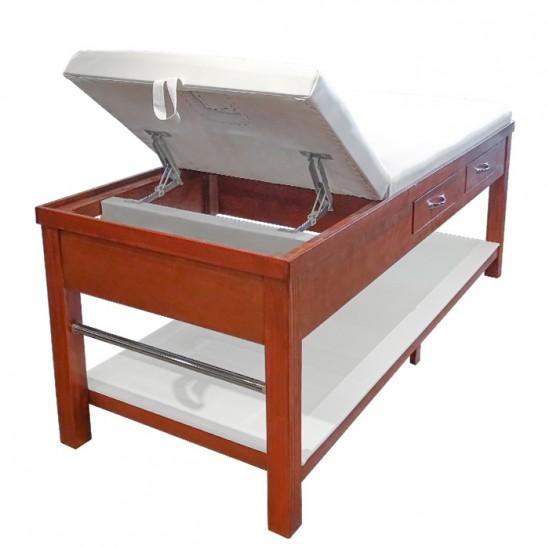 Ξύλινο κρεβάτι μασάζ με συρτάρια ML310