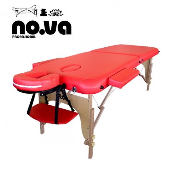 Ξύλινο κρεβάτι μασάζ, NO.VA Standart, NV22 - κόκκινο