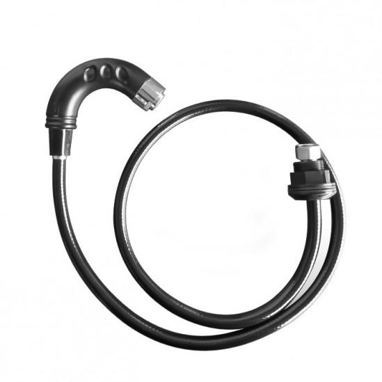 Μαύρο κινητό ντους για λουτήρα κομμωτηρίου S018C