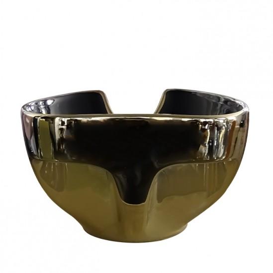Νεροχύτης για λουτήρα κομμωτηρίου χρυσού με μαύρο μοντέλο DM4
