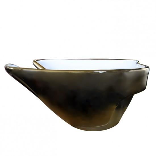 Νεροχύτης για λουτήρα κομμωτηρίου χρυσό με λευκό - DM5