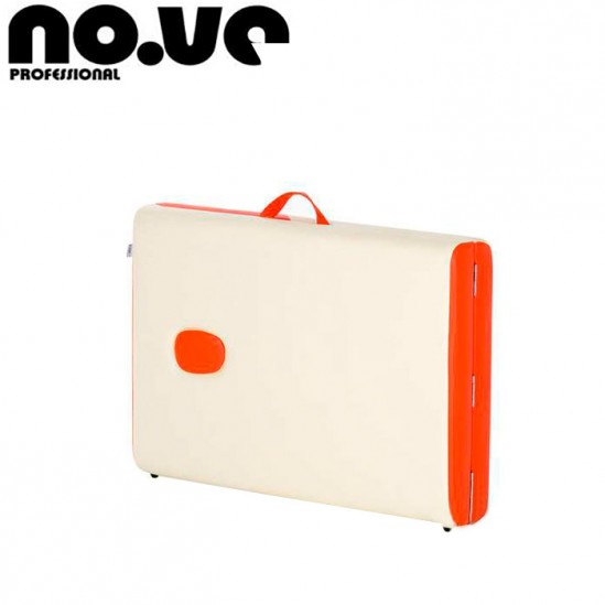 Κρεβάτι μασάζ αλουμινίου, NO.VA Aero Delux, NV21 - λευκό και πορτοκαλί
